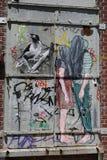 Arte murala a Williamsburg orientale a Brooklyn Fotografia Stock Libera da Diritti