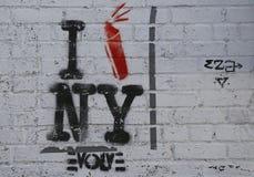 Arte murala a Williamsburg orientale a Brooklyn Immagine Stock