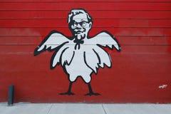 Arte murala a Williamsburg orientale a Brooklyn Immagini Stock Libere da Diritti