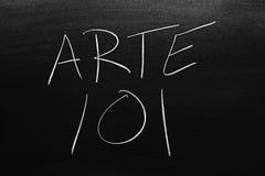 Arte 101 Na Blackboard Przekład: Sztuka 101 fotografia stock