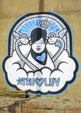 Arte na parede em Varanasi, Índia imagens de stock royalty free