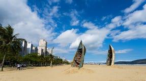 Arte na praia imagens de stock royalty free