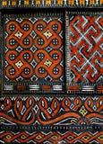 Arte natale africana sulla finestra Fotografia Stock Libera da Diritti