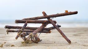 Arte natural na praia Imagens de Stock Royalty Free