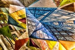 Arte nel sottopassaggio di Montreal Fotografie Stock