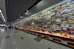 Arte nella stazione della metropolitana di Shanghai Immagine Stock Libera da Diritti