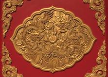 Arte no estilo chinês do templo em Tailândia imagens de stock