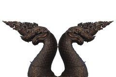 Arte no metal da serpente no fundo branco Imagens de Stock