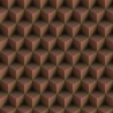 A arte Op cuba o teste padrão Brown sem emenda ilustração do vetor