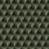 A arte Op cuba sem emenda verde do teste padrão ilustração royalty free