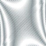 Arte op, modello di marezzatura Fondo ipnotico di rilassamento con geometr Immagini Stock Libere da Diritti