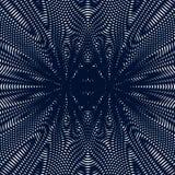 Arte Op, teste padrão do ondeamento Fundo hipnótico de relaxamento com geometr Imagem de Stock Royalty Free