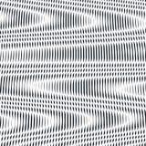Arte Op, teste padrão do ondeamento Fundo hipnótico de relaxamento com geometr Foto de Stock Royalty Free