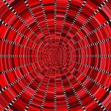 Arte ottica nei toni rossi Fotografia Stock