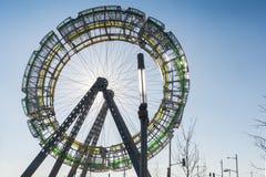 Arte pública da roda de Ferris (detalhes) Foto de Stock Royalty Free