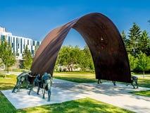 Arte público en la universidad de Calgary Imagen de archivo