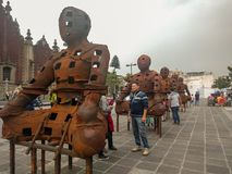 Arte público en Zocalo, Ciudad de México fotografía de archivo