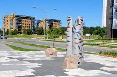 Arte público, Terrebonne, Canadá fotos de archivo
