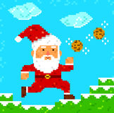 Arte Papai Noel do pixel Foto de Stock
