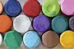 Arte pastello stabilita su un fondo bianco Immagine Stock Libera da Diritti