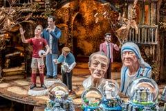 Arte pequena famosa da estátua em Nápoles fotografia de stock royalty free