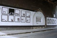 Arte perdida de Banksy Fotografia de Stock
