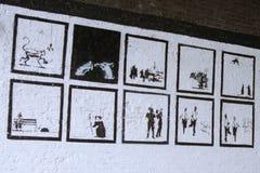Arte perdida de Banksy Imagem de Stock Royalty Free