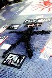 Arte politica della camicia rossa Fotografia Stock Libera da Diritti