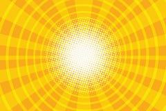 Arte pop amarillo del pasillo del anillo del fondo retro libre illustration