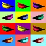 Arte pop atractivo de los labios Fotografía de archivo libre de regalías