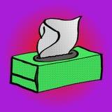 Arte pop blanco de papel de la caja de la servilleta Fotografía de archivo