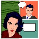 Arte pop cómico Fotos de archivo libres de regalías