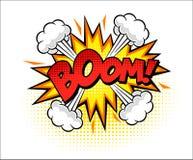 Arte pop cómico de la palabra del auge ilustración del vector