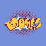 Arte pop cómico del auge de la burbuja del discurso Ilustración del vector Foto de archivo libre de regalías