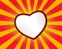 Arte pop de la forma del corazón Imagen de archivo libre de regalías