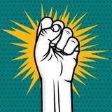 Arte pop del puño de la revolución Fotos de archivo