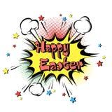 Arte pop feliz de Pascua ilustración del vector