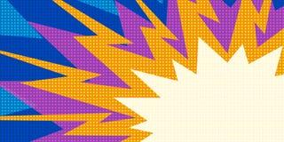 Arte pop multicolor de la explosión ilustración del vector