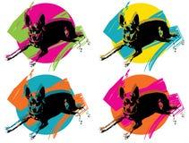 Arte pop ROSADO Fotos de archivo libres de regalías