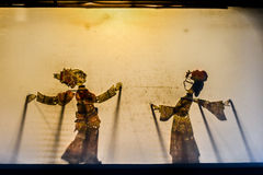 Arte popular chinesa do teatro, sombra Fotografia de Stock Royalty Free