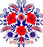 Arte popular húngara ilustração stock