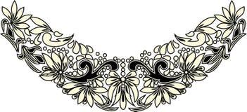Arte popular hermoso, decoración floral foto de archivo