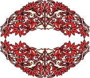 Arte popular hermoso, decoración floral fotografía de archivo