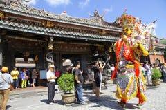Arte popular Sheng Jian de Taiwán un general santo Imagen de archivo