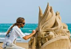 Arte por el mar Foto de archivo libre de regalías