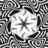 Arte preta da ilustração do fundo com formulário da flor ilustração do vetor