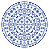Arte preto e branco do vetor da mandala, ponto australiano que pinta o projeto decorativo, estilo aborígene do bohemian da arte p Fotos de Stock Royalty Free