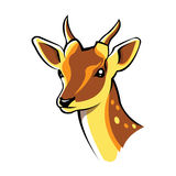 Arte principal de los ciervos Foto de archivo libre de regalías