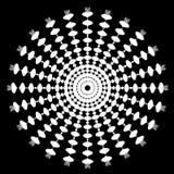 Arte psichedelica astratta in bianco e nero Fotografia Stock Libera da Diritti