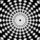 Arte psichedelica astratta in bianco e nero Fotografie Stock